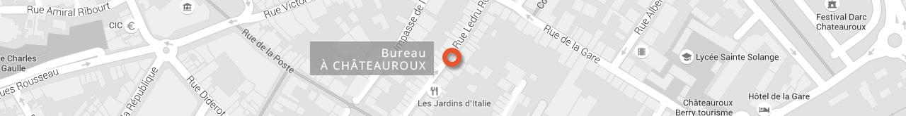 Carte Châteauroux